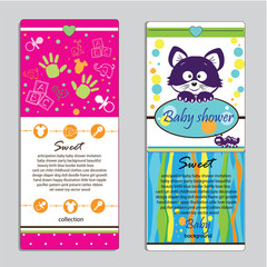 Banners of baby background