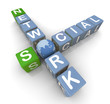 Social network crossword