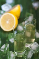 Homemade lemonchelo