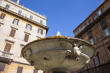 Roma, una fontana.