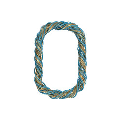 0, zero,  set of numbers of twisted wire