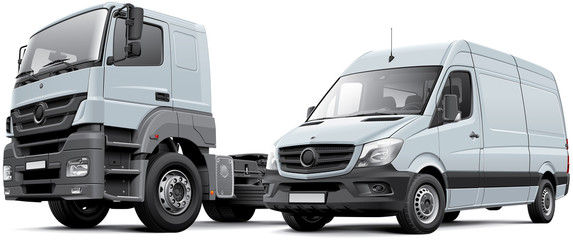 Two commercial vehicle