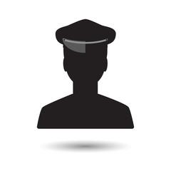 Limo driver silhouette. Limousine driver icon. Vector illustrati
