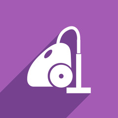 Flat Icon of vacuum cleaner