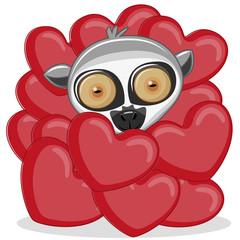 Lemur in hearts