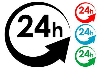 Pictograma 24h en varios colores