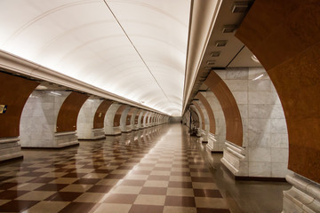 Empty Moscow Metro at Night