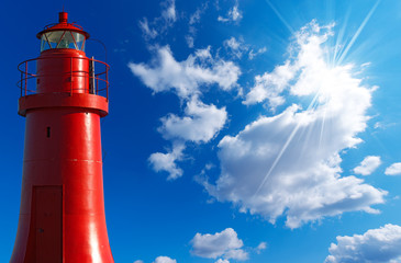 Red Lighthouse - La Spezia Italy