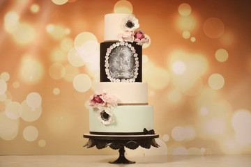 4 tier marzipan cake