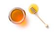 honey dipper and honey in jar