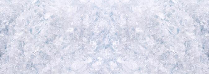 Horizontal panorama with  snow