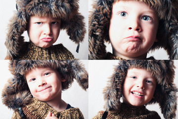 smiling child.Kids.funny boy.children emotion collage