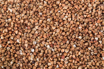 A texture background is out of boiled buckwheat