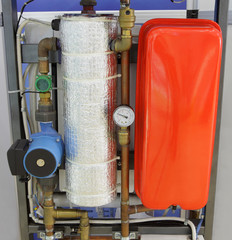 Heating system with manometer