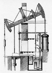 Watt steam pumping engine, 1769