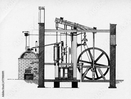 Leinwandbild Motiv Watt steam engine, 1784