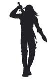 Warrior man silhouette