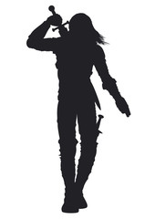 Warrior man silhouette