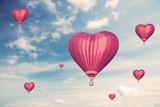 Love balloons, vintage style photo - 77988866