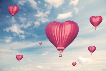 Love balloons, vintage style photo