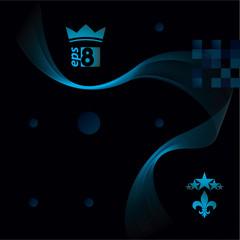 Slender 3d textile motif background, curved stripy flowing lines