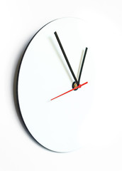 Abstract half clock on the white background