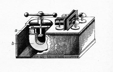 Steinheil's print telegraph, 1836