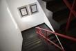 Empty grey stairs