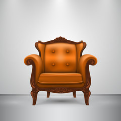 Retro chair orange