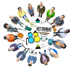 Diversity Casual People Retirement Vision Aspiration Concept