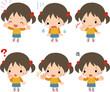 小さな女の子のいろいろな表情