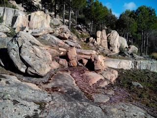 Granito en el cerro Alcornocoso en Cadalso de los Vidrios