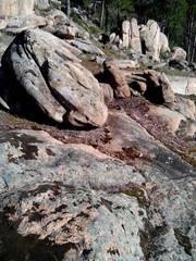 Granito en el cerro Alcornocoso. Cadalso de los Vidrios
