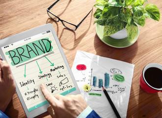 Digital Online Brand Marketing Concept