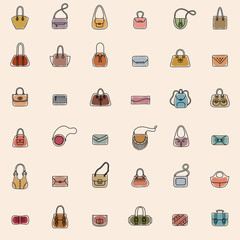 Bag Icons Seamless Pattern