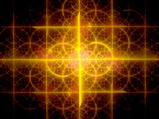 Glowing orange fractal