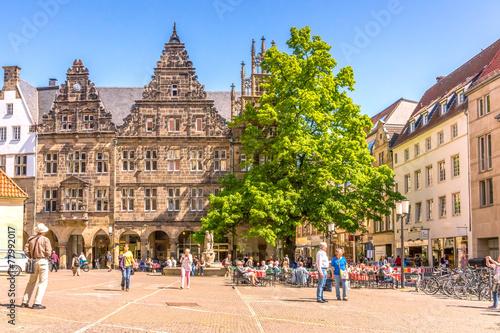 Staande foto Centraal Europa Münster (Westfalen), Prinzipalmarkt