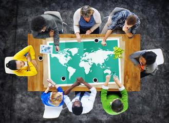 World Global Business Cartography Globalization International