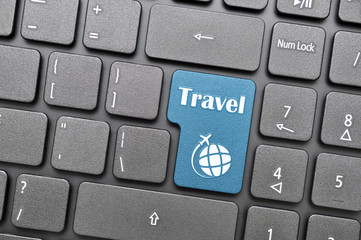 Travel key on keyboard