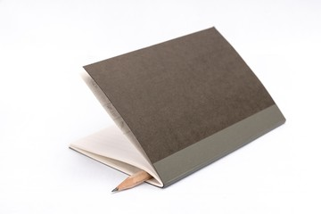 Little classic notebook with wood pencil
