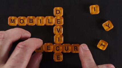 Letter Blocks Spell Mobile Device Security