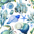 Corals with shells and crabs - 77993291