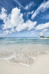 Ship Moored Caribbean