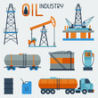 Industrial set of oil and petrol icon. - 77994250