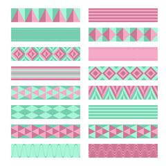 Ribbons. Washi tapes set.