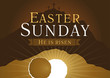 easter sunday holy week card - 77995002