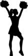 Cheerleader Silhouette - 77995029