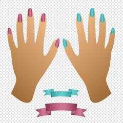 Woman hands. Manicure.