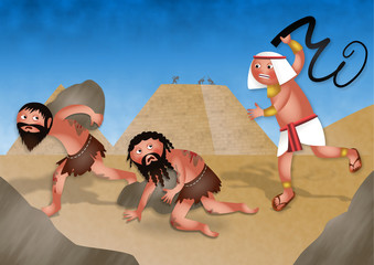 Slaves in Egypt - Jewish Passover Cartoon