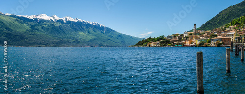 canvas print picture Limone at Lake Garda, Italy